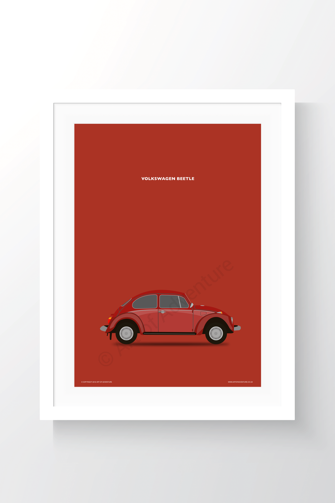 Volkswagen Beetle Portrait Red - Art of Adventure