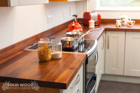 5 Bespoke Kitchen Solid Hardwood Countertop Stainless Steel Sink Designed & Installed by The Fine Wooden Article Co., Gloucestershire, South West, UK
