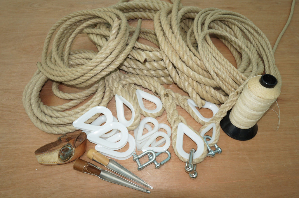 Rope: 3 Strand Hemp Style Polypropylene: (Traditional range. And Toddler swings.) 10mm , 12mm, 18mm, 25mm