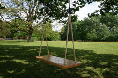 Contemporary Solid Oak Swing Seat - Child