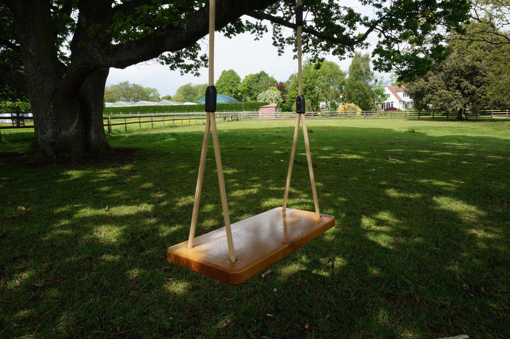 Contemporary Solid Oak Tree Swing - Adult