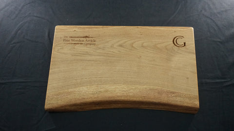 Oak Serving Platter. (Natural Edged with options company branding.)