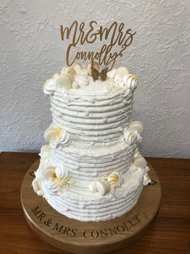 Solid Wood Wedding Cake Board (Large)