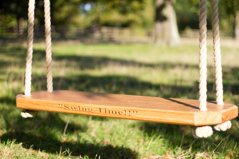 Traditional Solid Oak Tree Swing - Double Adult