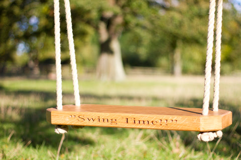 Traditional Solid Oak Tree Swing - Adult
