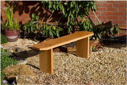 Solid Oak Handcrafted Adult 2 seat Bench from sustainably sourced wood. The Fine Wooden Article Company, Gloucestershire, UK.
