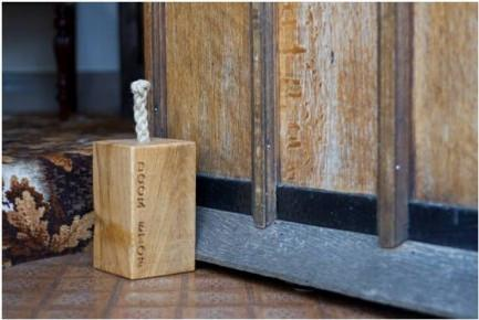 Solid Green Oak Doorstops finely engraved & handcrafted from a variety of sustainably sourced & reclaimed English woods in our Gloucestershire workshop, UK. The Fine Wooden Article Company. Small.