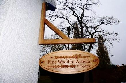 Solid Oak Traditional Hanging Sign / Plaque Gallows, bespoke, handengraved, High Quality, durable, crafted in our wood working workshop, Gloucestershire, UK.