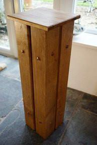 Solid Oak handcrafted Plant Stand, Occasional Table, Candle Stand. The Fine Wooden Article Company, Gloucestershire, Uk. Tall.