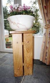 Solid Oak handcrafted Plant Stand, Occasional Table, Candle Stand. The Fine Wooden Article Company, Gloucestershire, Uk. Medium
