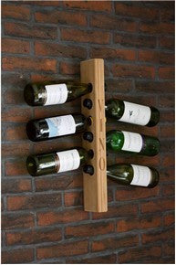 Wall Mounted Hardwood Wine Rack 6 Bottle The Fine Wooden Article