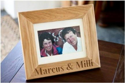 8 x 6 engraved Solid Oak picture frames come with a mount, stand, glass & wall hanging fixings, English wood handcrafted  in our Gloucestershire workshop, UK.