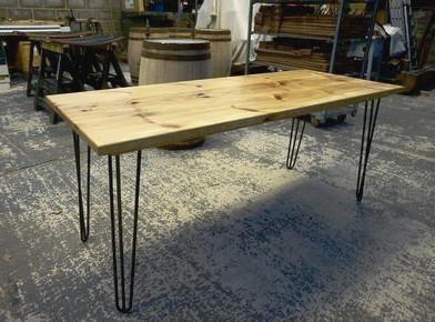 A hardwearing, versatile Cedar of Lebanon dining / working table for home, hospitality interiors & restaurants, handcrafted in our Gloucestershire workshop, UK. The Fine Wooden Article Company