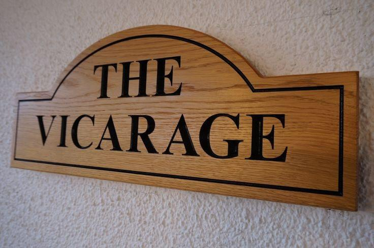Solid Oak Half-Crescent Traditional House Name Sign, bespoke, handengraved, High Quality, durable, crafted in our wood working workshop, Gloucestershire, UK.