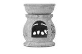 SmartHUG Tea Light Holder Aromatherapy Essential Oil Burner Soapstone Engraved Elephant Set