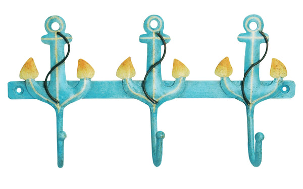 SmartHUG Iron Anchor 3 Hooks, Aqua Color