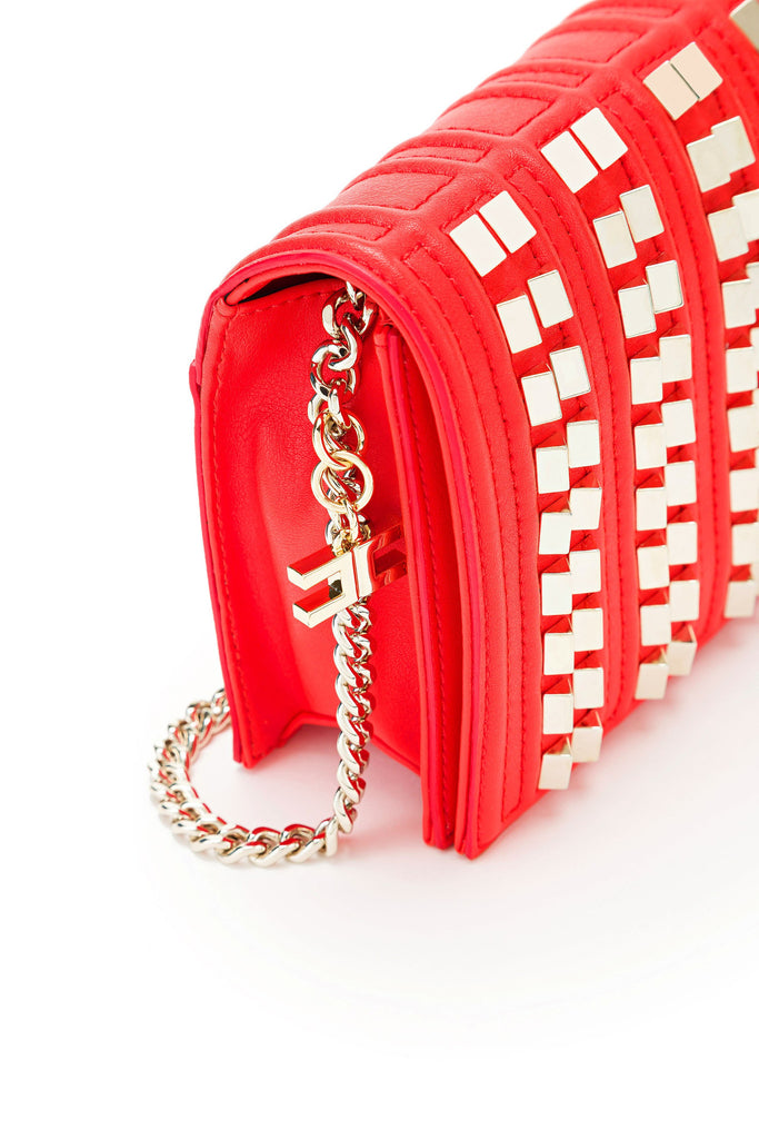 Shoulder Bag with golden chain / mini bandolera con remaches