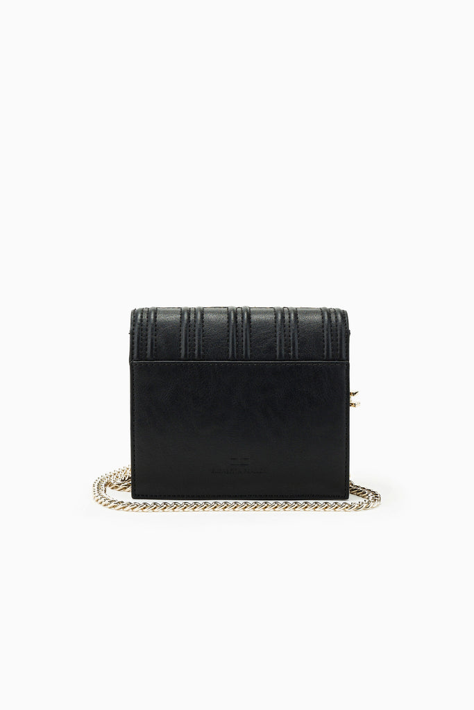 Shoulder Bag with golden chain / Mini Bandolera con Remaches Black