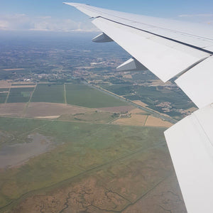 Italian Wine Connection view from the plane