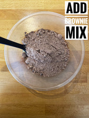 Add your brownie mix to the bowl