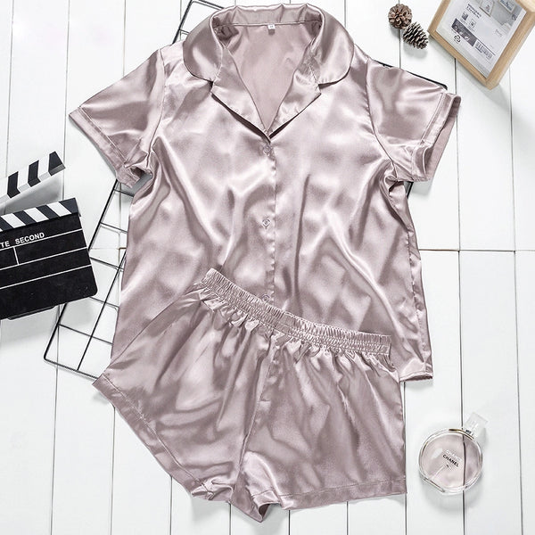Ami Satin Loungewear Pajamas Set