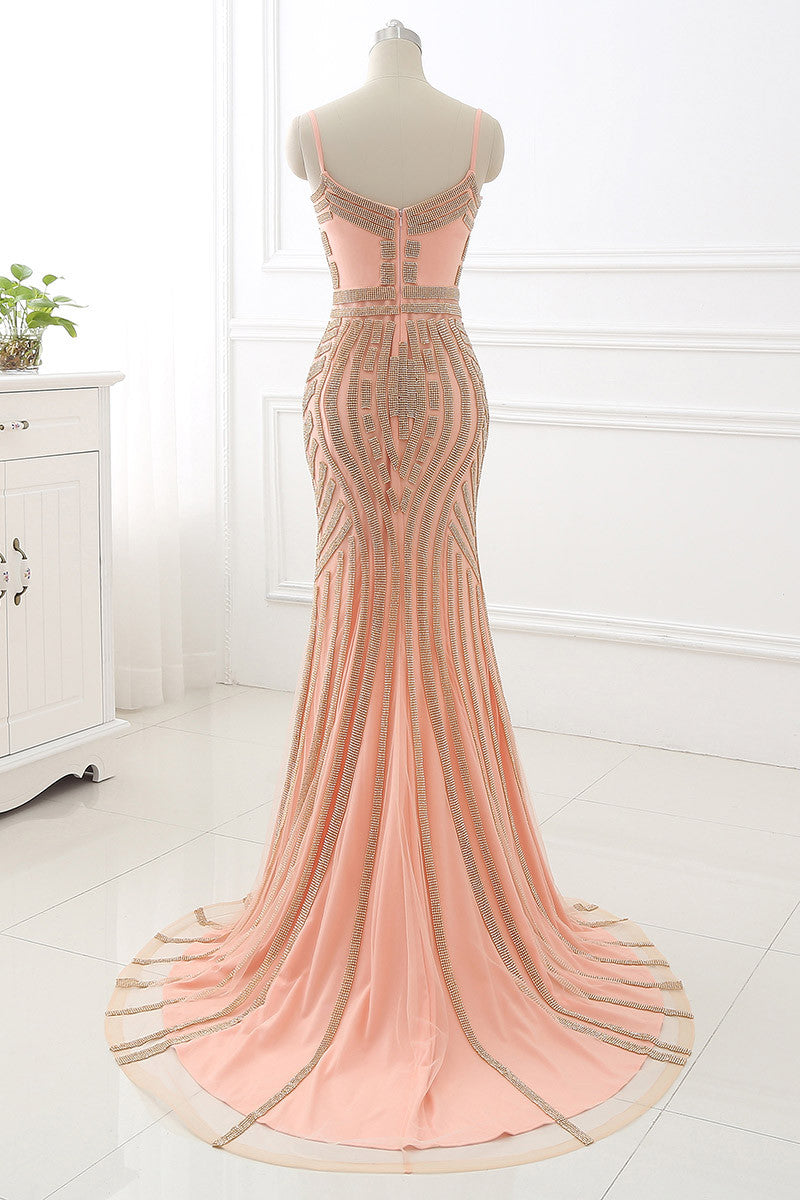 Crystal Embellished Prom Dress