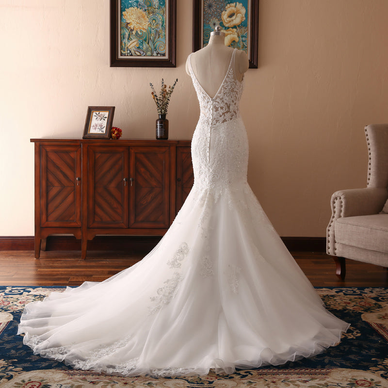Lily Mermaid Flared Wedding Dress