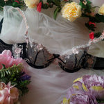 Aria Lace Lingerie Set - Black