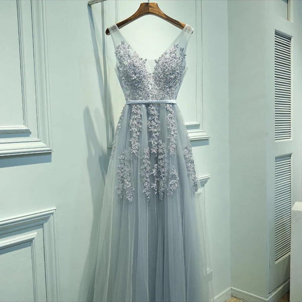 Embellished Tulle Prom Dress