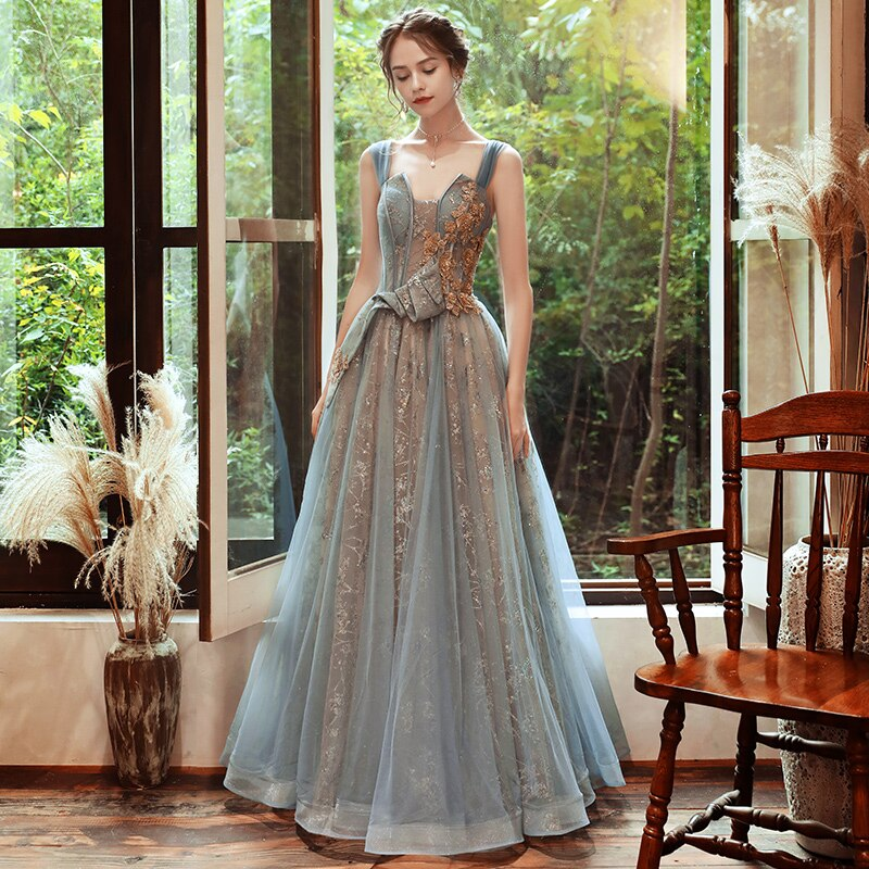 Ana Tulle Off Shoulder Prom Dress