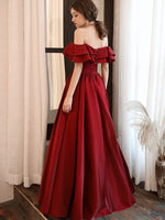Talia Ruffled Off Shoulder Prom Dress