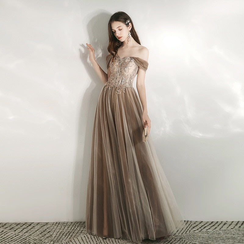 Elise Off Shoulder Prom Dress