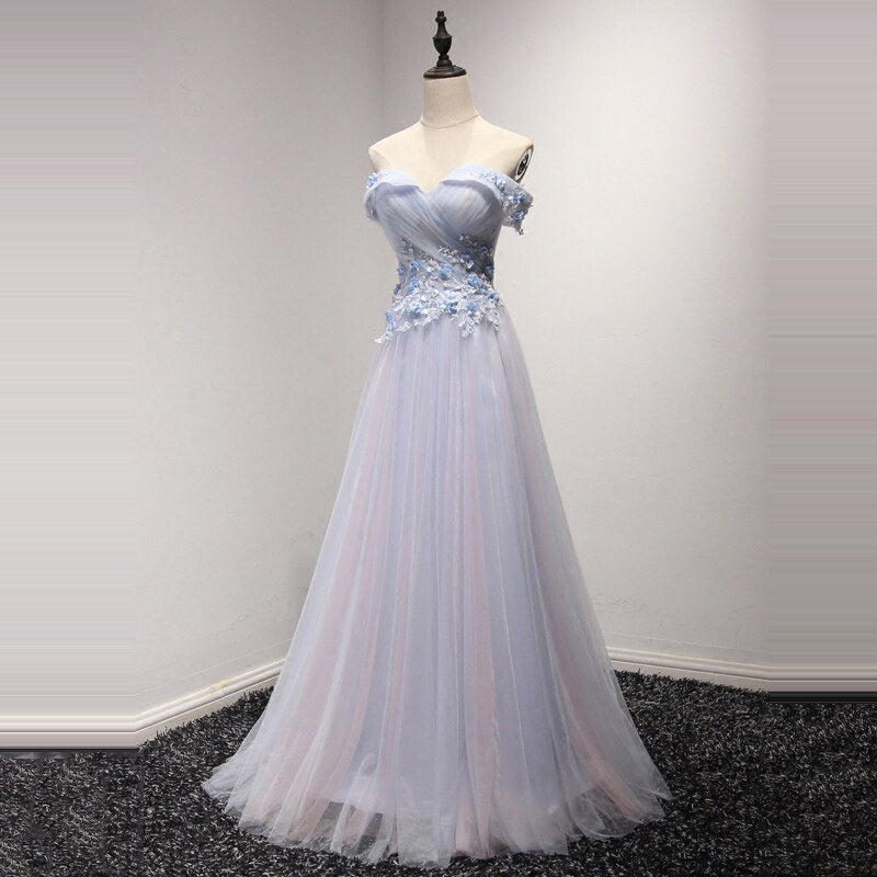 Valentina Off Shoulder Prom Dress