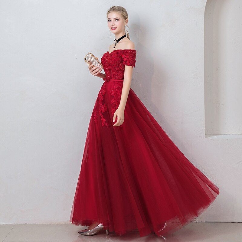 Emilia Off Shoulder Prom Dress