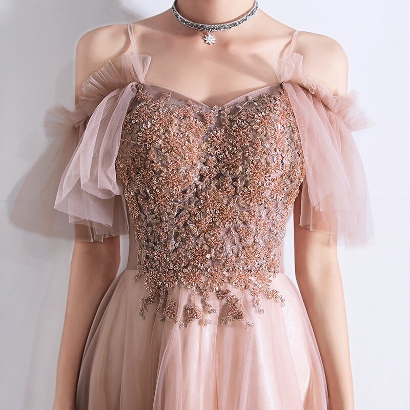 Sophia Embroidered Prom Dress