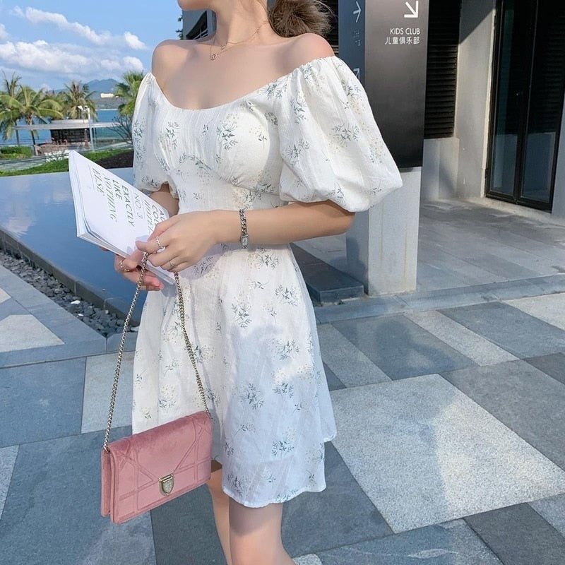 Ria Puff Shoulder Dress