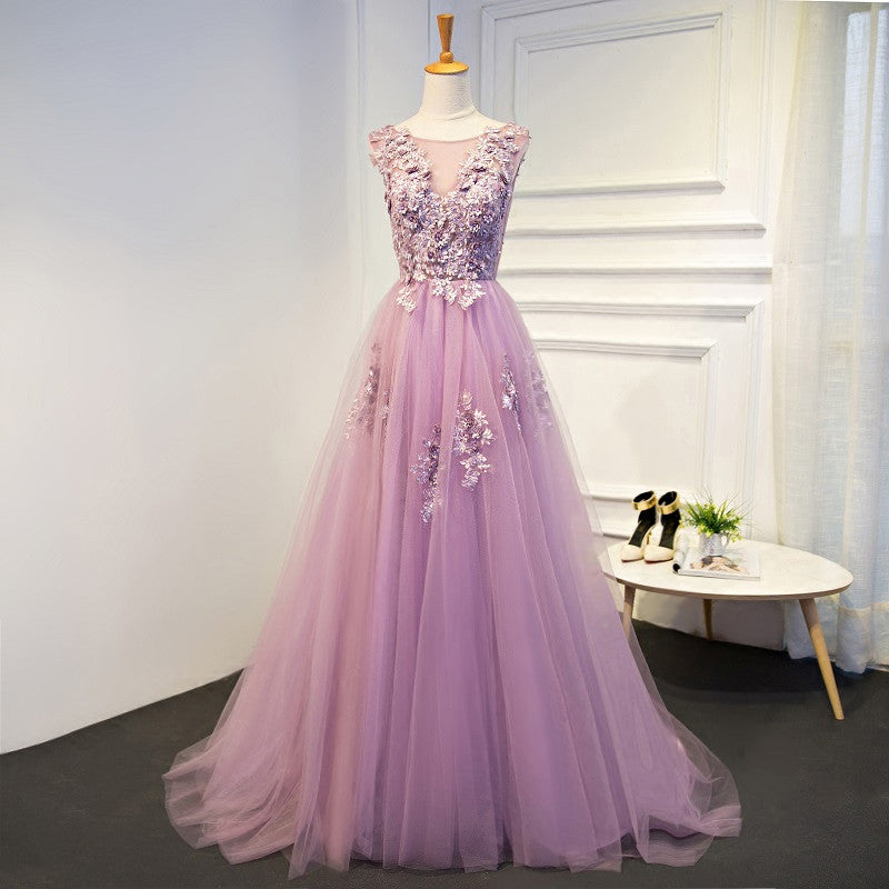 Deluxe Floral Tulle Bridesmaid Dress