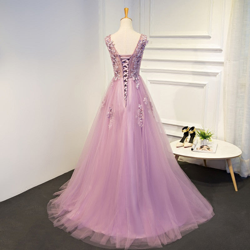 Clearance - Deluxe Floral Tulle Prom Dress – The Dress Rail Boutique