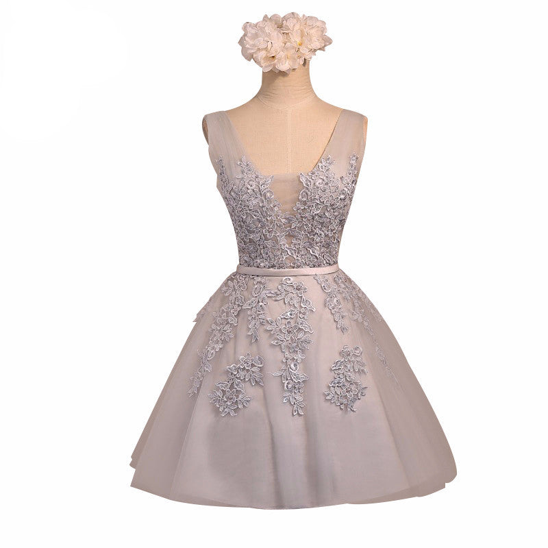 Embellished Tulle Short Homecoming Dress
