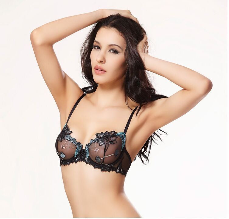 Ari Lace Lingerie Set - Blue