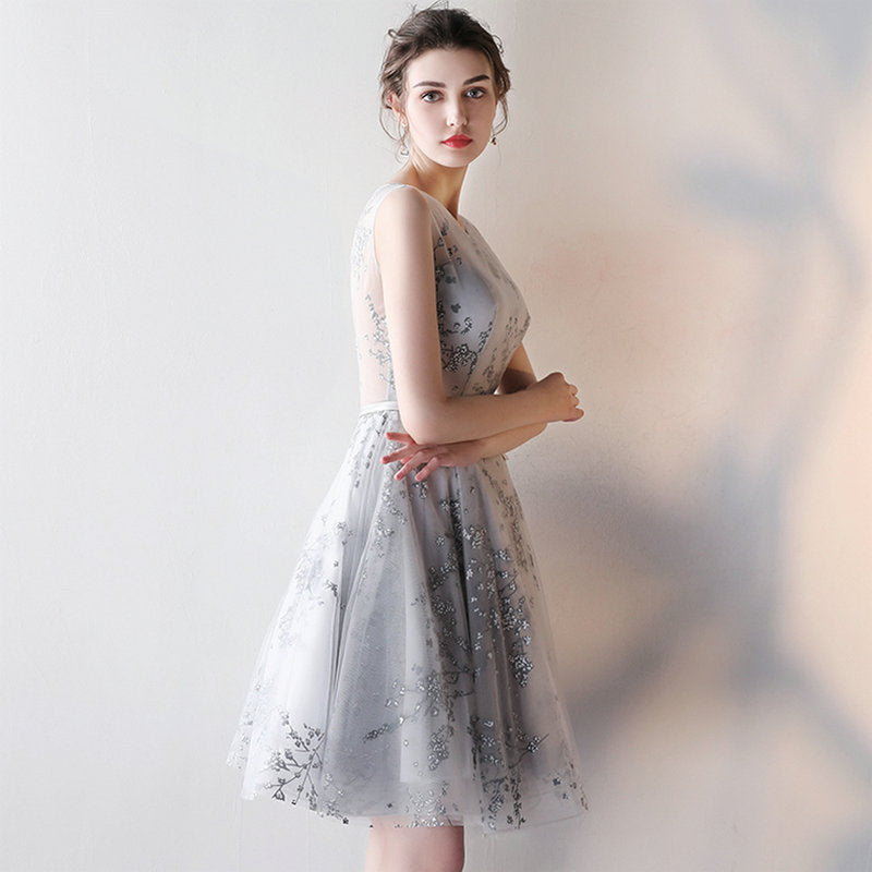 Petal Embroidered Homecoming Dress