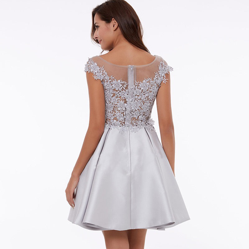 Off Shoulder Embellished Homecoming Dress