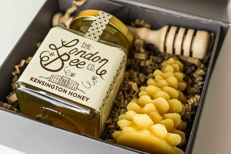Small Beeswax Candle, and Kensington Honey Gift Box