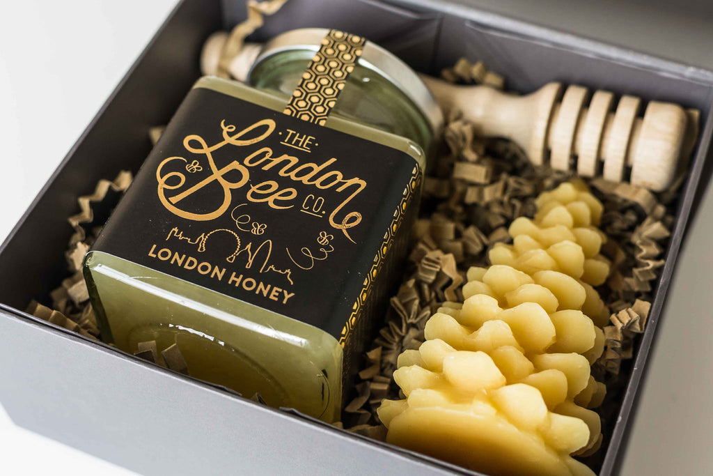 Small Beeswax Candle, and London Honey Gift Box