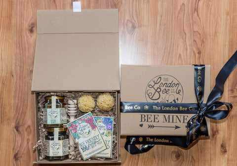 BEE MINE Beeswax Candle and Honey Gift Box