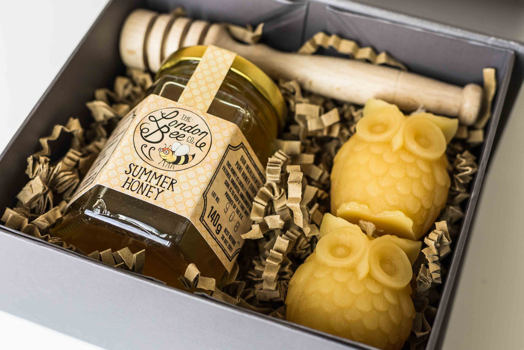 Small Beeswax Candle, and Honey Gift Box