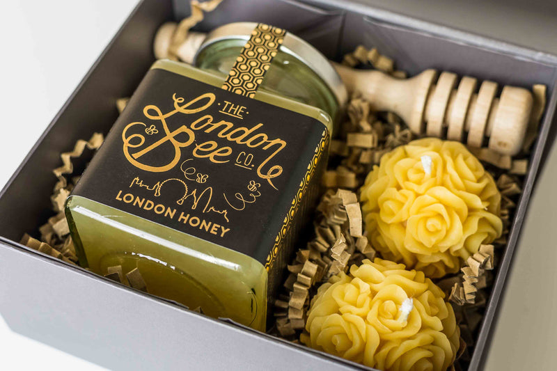 Small Beeswax Candles, and London Honey Gift Box