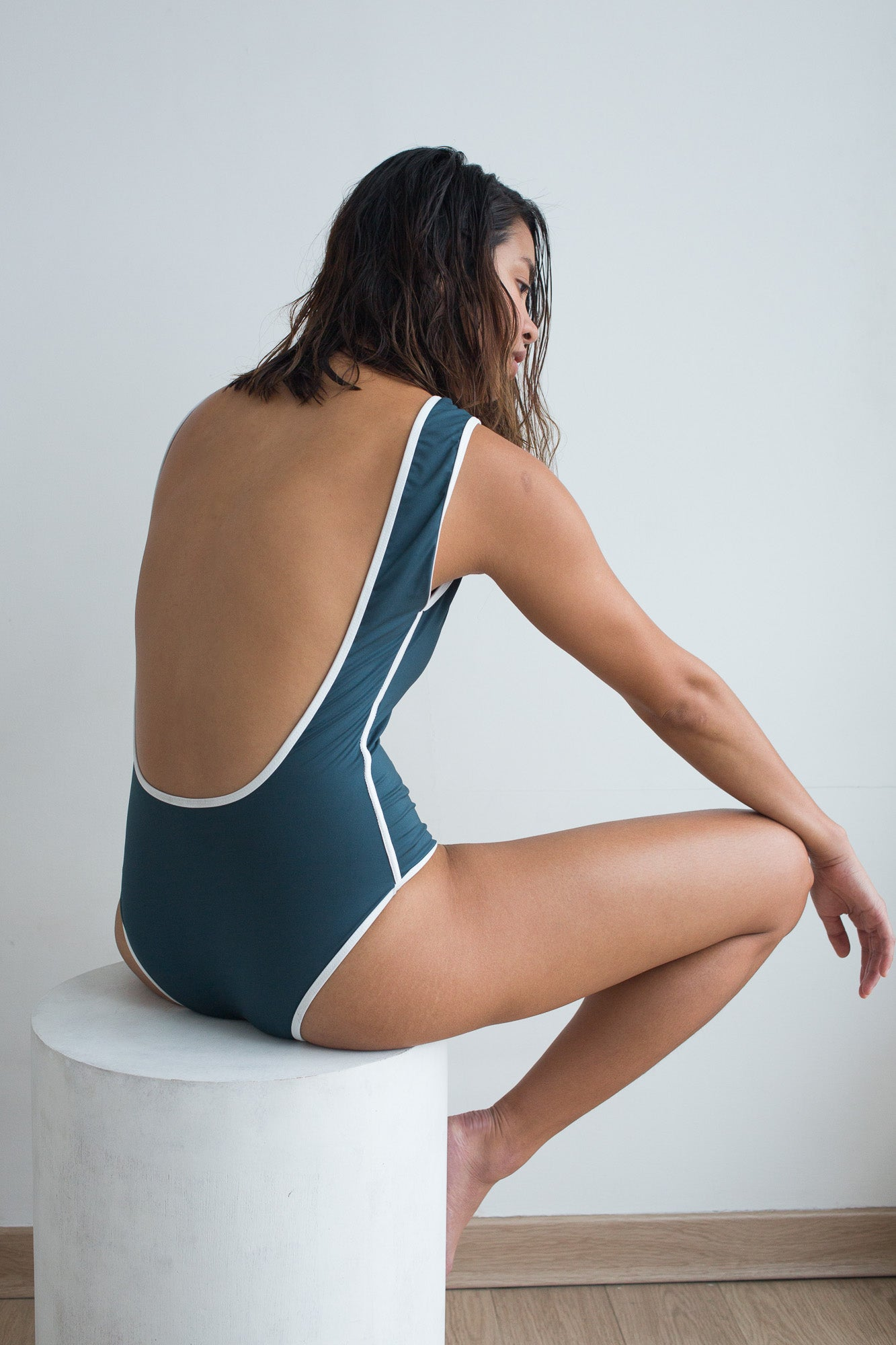Marion One Piece - Slate Teal