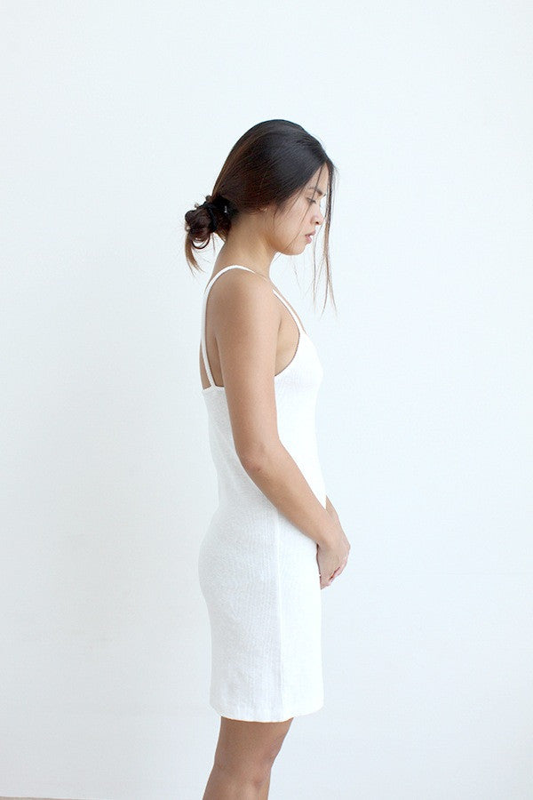 Ribbed Cami Slip Dress
