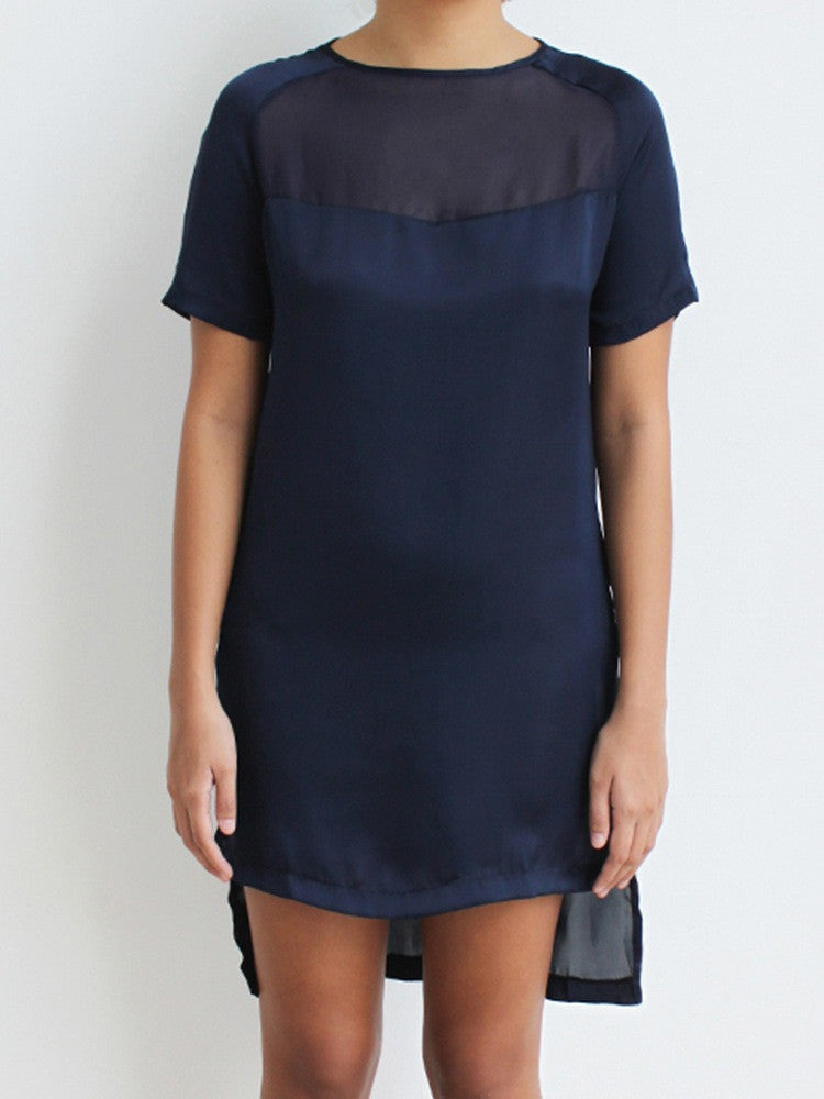 Raglan Satin T-Shirt Dress